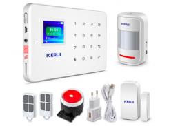 Комплект сигнализации GSM KERUI G-18 plus Белый (GHFBDGY4369FKKF)