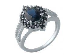 Серебряное кольцо Silver Breeze с натуральным сапфиром 17.5 размер (2008941)