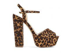Босоножки JustFab Womens Paigett Leopard 40 Леопардовый (DA1511732LD-40)