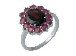 Серебряное кольцо Silver Breeze с натуральным рубином, гранатом 17.5 размер (1987506)