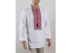 Рубашка Украинская вышиванка Колос 44 Кубик красный  (4016/144) (2-4016/144)