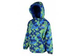 Зимняя термокуртка Гексагон Ski tour Pidilidi 110 см 1034-02 Зелено-синяя (hub_bNQT44617)