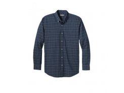 Рубашка Eddie Bauer Mens Long-Sleeve Twill Shirt LAKE S Темно-синий (8286LKE-S)