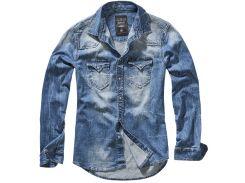 Рубашка Brandit Riley Denim BLUE S Синий (4020.62)