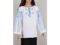 Блуза женская вышиванка Колос 56 Бузок синій  (3001/156) (2-3001/156)