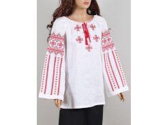 Блуза женская вышиванка Колос 50 Бузок червоний  ( 3020/150) (2- 3020/150)