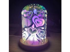 3D ночник Kronos Top Сердечки (stet_658)