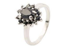 Серебряное кольцо Silver Breeze с натуральным сапфиром 18 размер (1134870-18)