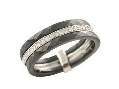 Серебряное кольцо Silver Breeze с керамикой 18 размер (1223635-18)