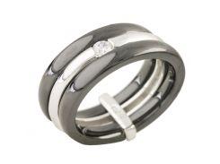 Серебряное кольцо Silver Breeze с керамикой 17 размер (1214893)