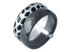 Серебряное кольцо Silver Breeze с керамикой эмалью 16.5 размер (1978054)