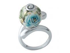 Серебряное кольцо SilverBreeze с емаллю 17.5  (2004011)