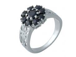 Серебряное кольцо Silver Breeze с натуральным сапфиром 17.5 размер (2008828)