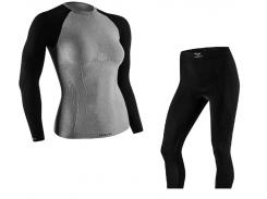 Комплект женского термобелья Tervel Comfortline L Черный с серым (t0029)