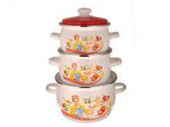 Набір емальованого посуду ТМ Idilia №946 Белісімо (359801)