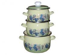 Набір емальованого посуду ТМ Idilia №946 Виноградна лоза (359802)