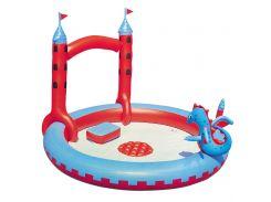 Игровой центр Bestway 53037 Замок Дракона с душем 130 л Красно-голубой (int53037)