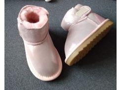 Детские угги с напылением  26 стелька 16 см Розовый