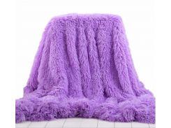 Покрывало с длинным ворсом Leopollo Фиолетовый (0615)