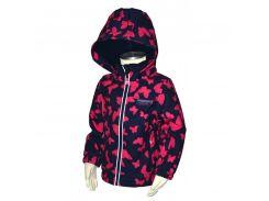 Демисезонная термо куртка Pidilidi Бабочки для девочек 86 см 978-01 Разноцветный (hub_vGqE10008)