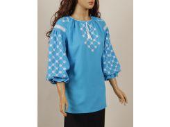Блуза женская вышиванка Колос 54 Білоцвіт  (3084/154) (2-3084/154)