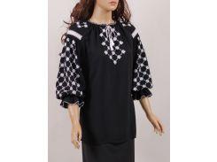 Блуза женская вышиванка Колос 46 Білоцвіт  (3084/246) (2-3084/246)