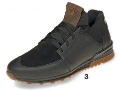 Кроссовки мужские Mida 44 Черный с коричневым (111217/3 44)
