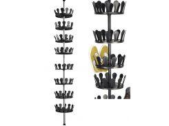 Телескопическая полка для обуви Livarno living 2,4-2,8х0,26м Черный 974844798 (DI66974844798)