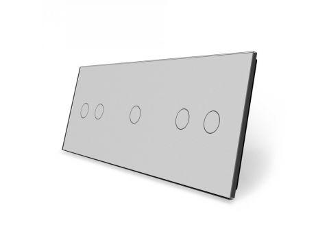 Лицевая панель для сенсорного выключателя Livolo 5 каналов Серый (BB-C7-C2/C1/C2-15) Киев