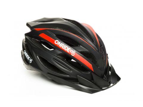 Шолом велосипедний OnRide GRIP L Чорний / червоний (69078900063 ) Киев