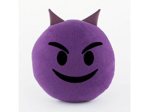 """Подушка """"Смайл Добрый чертёнок"""" Фиолетовый (PS_006_purple_fk_1)"""