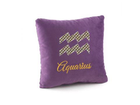 Подушка подарочная «Гороскоп Водолей» Фиолетовый (PH_411_fk_1)
