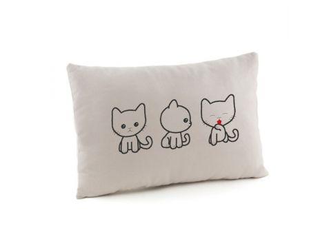 Подушка подарочная «Три котика» Серая (PV_007_fk_pr_1)