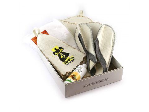 Подарочный набор для сауны Sauna Pro №2 100% Мужик (N-105)