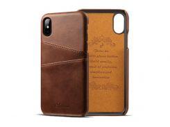 Чехол Juteni для iPhone X Dark Brown (AL1391)