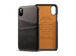 Чехол Juteni для iPhone X Black (AL1388)