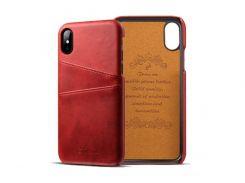 Чехол Juteni для iPhone X Red (AL1393)