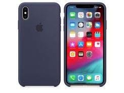 Чехол Apple Silicone Case for iPhone Xs Max Midnight Blue (7234)