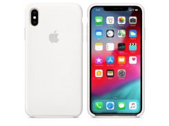 Чехол Apple Silicone Case for iPhone Xs Max White (7238)