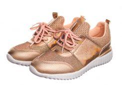 Кроссовки женские Shine 39 Розовые с золотым