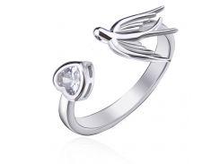 Серебряное кольцо MAZZARINI JEWELRY с фианитовой вставкой размер 18 (К2Ф/2012-18)