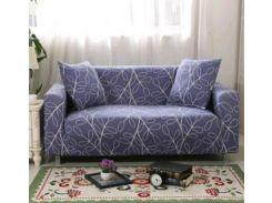 Чехол для трехместного дивана, синий с узором (CZ2755480004)