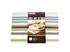 Набор салфеток Kamille под горячую посуду 6 шт Разноцветные (KM-1048)
