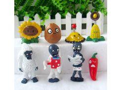 Набор №1 Растения против зомби Plants vs Zombies 8 фигурок (1nabor)