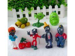 Набор №2 Растения против зомби Plants vs Zombies 8 фигурок (2nabor)