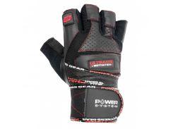 Перчатки для тяжелой атлетики Power System Ultimate Motivation PS-2810 M Black Red