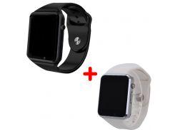 Комплект смарт-часов Smart Watch A1 Black/White 2 шт (nr1-112)