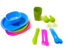 Набор посуды для пикника Kronos Top R86497 36 шт на 4 персоны (gr_008662)