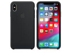 Чехол Apple Silicone Case for iPhone Xs Max Black (7231)