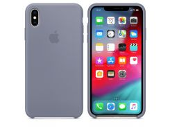 Чехол Apple Silicone Case for iPhone Xs Max Lavender Gray (7233)